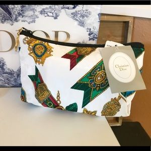 Auth. Dior Rare Vintage Royal Jewel Cosmetic Bag